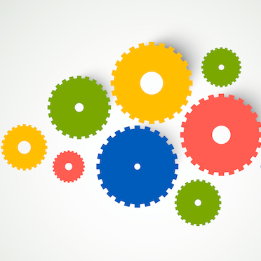 Colorful gears - WebsiteDesign