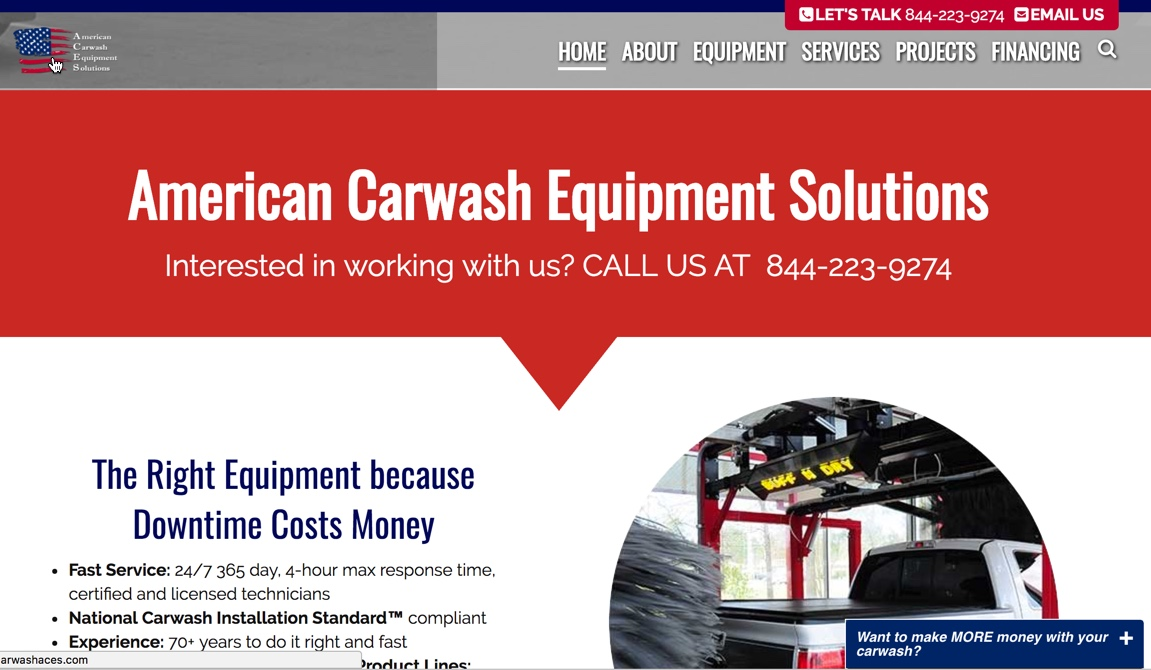 wordflirt carwashaces study1 - Wordpress Website Makeover Customer Highlight: carwashaces.com