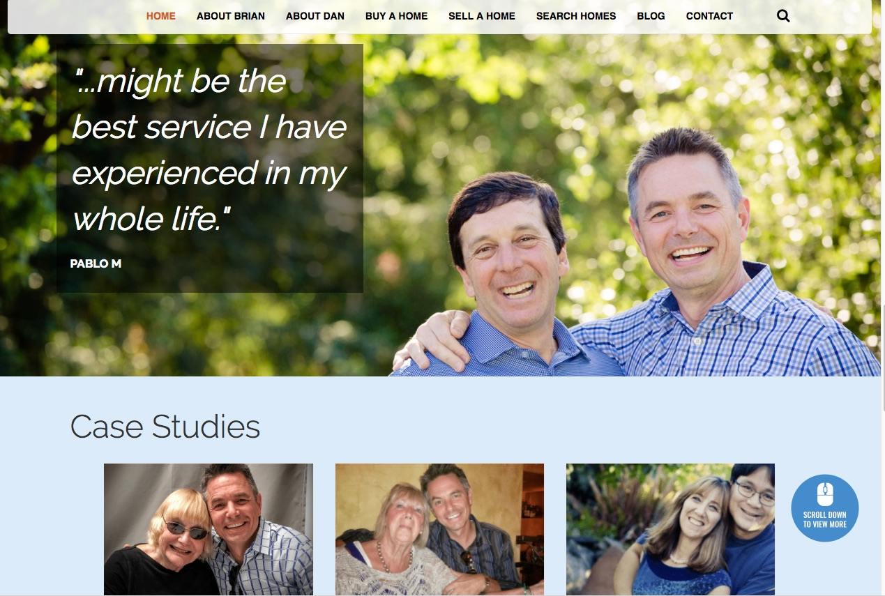briananddan2 wordflirt portfolio - Wordpress Website Makeover Customer Highlight: briananddan.com